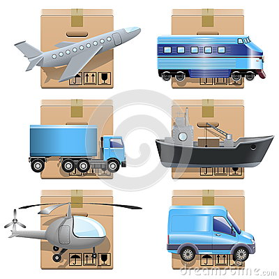 Vector shipment icons