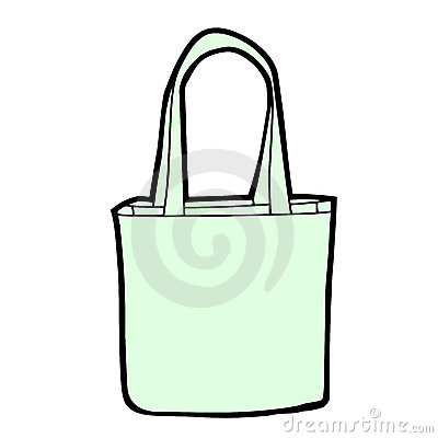 Vector shopping bag blank