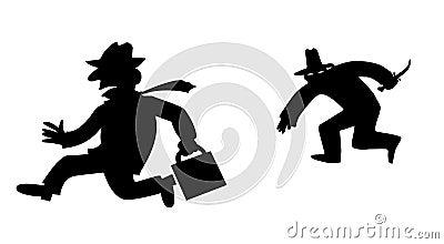 Vector silhouette bandit