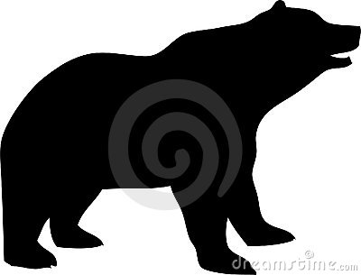 Vector Silhouette of a Bear