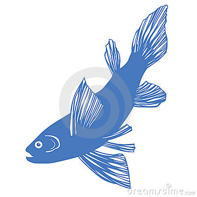Vector silhouette of fish
