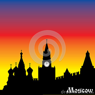 Moscow silhouette