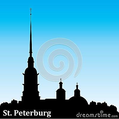 Petersburg silhouette