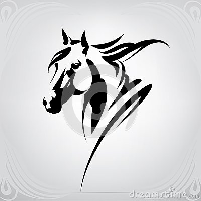 Free Vector Silhouette Of A Horse`s Head Royalty Free Stock Image - 110447176