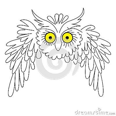 Vector silhouette owl
