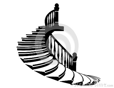 Vector Silhouette Stairs Stock Vector - Image: 39177306