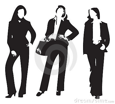 Vector silhouette of woman