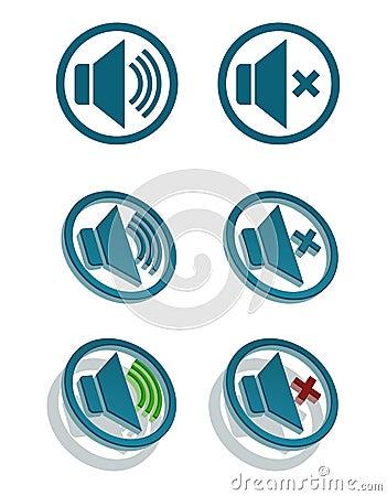 Vector simple speaker icons
