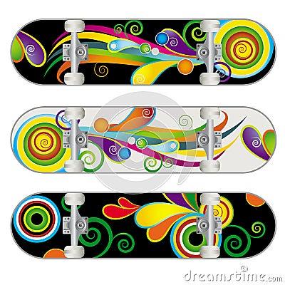 Vector Skateboard Designs