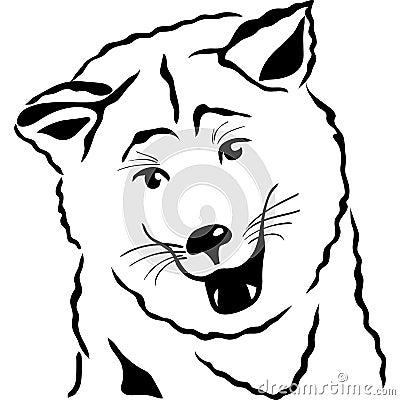 vector Sketch Akita Inu Japanese Dog