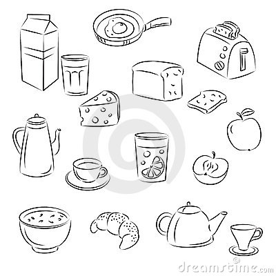 Free Vector Sketch Clipart Set Stock Photography - 16496532