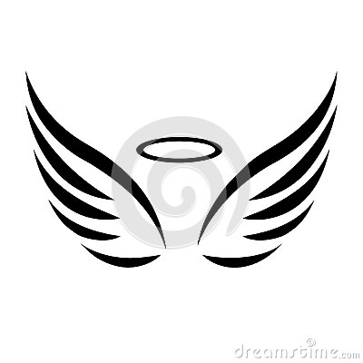 Free Vector Sketch Of Angel Wings Royalty Free Stock Image - 58474436