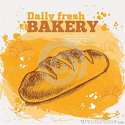 Free Vector Sketch Of Fresh Bread Stock Image - 58156301