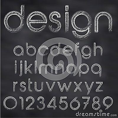Vector sketched font
