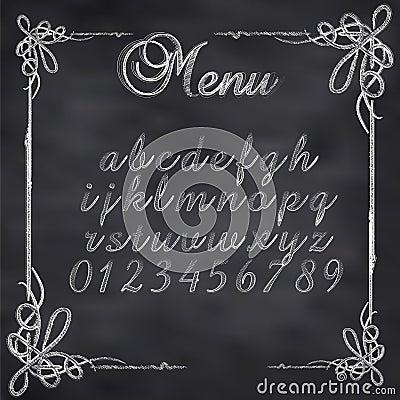 Vector sketched menu board