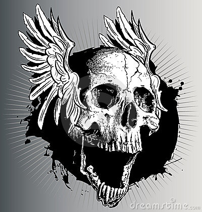Free Vector Skull With Wings Stock Photos - 17286403