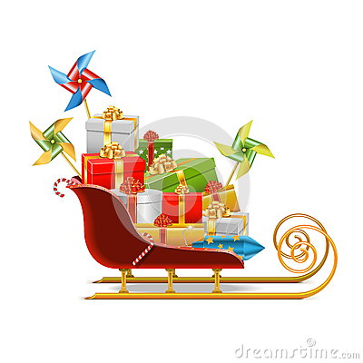 Free Vector Sled With Gifts Stock Photos - 46535493