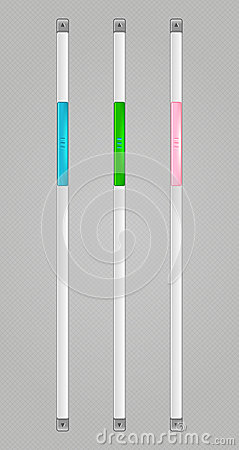 Vector Sliders Scroll web bars Set
