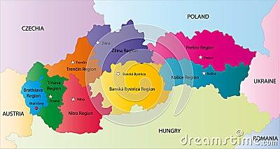 Vector Slovakia map