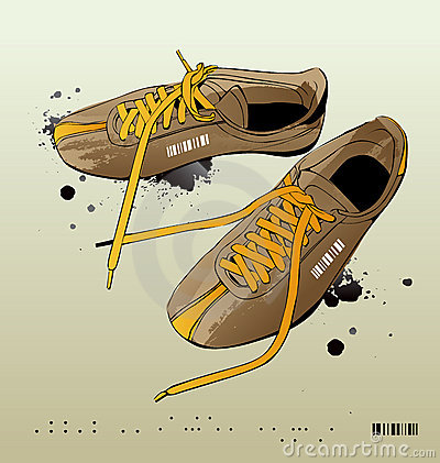 Vector sneakers, gym-shoes