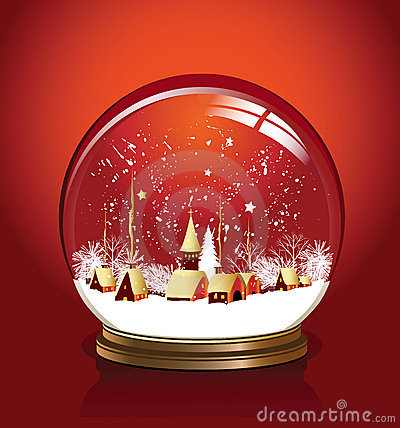 Free Vector Snow Globe Red Stock Photography - 6950942