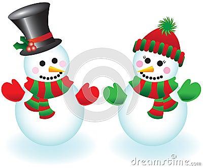 Vector snowpeople