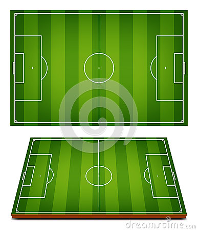 Free Vector Soccer Fields Striped Grass Royalty Free Stock Images - 50872179