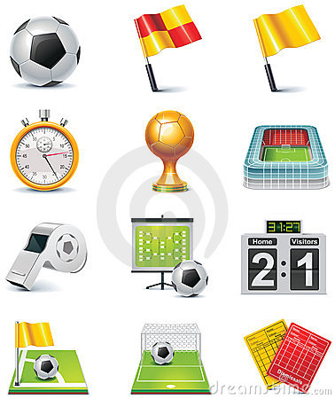 Free Vector Soccer Icon Set Stock Photos - 17588903