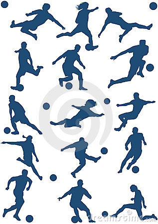 vector of Soccer players