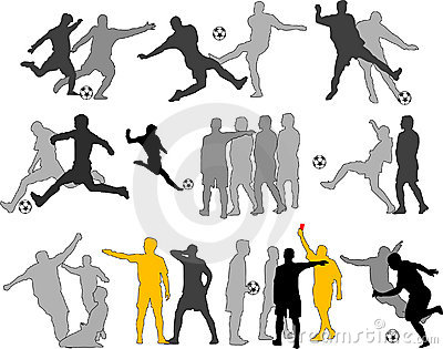 Vector Soccer Players Silhouettes