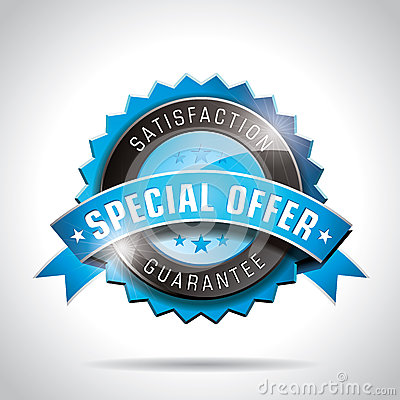 Vector Special Offer Labels Illustration with shiny styled design on a clear background. EPS 10.