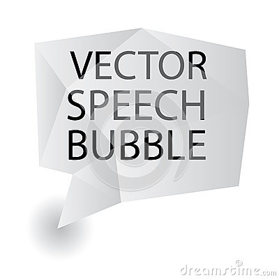 Vector speech bubble origami