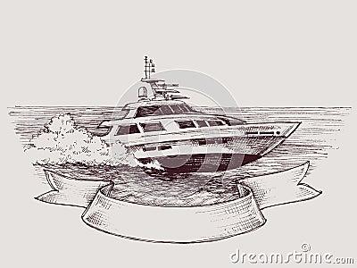 Vector speed boat Vector Illustration