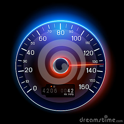 Free Vector Speedometer Royalty Free Stock Photography - 26272647