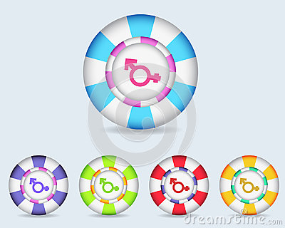 Vector Sphere Sexuality Icon Button