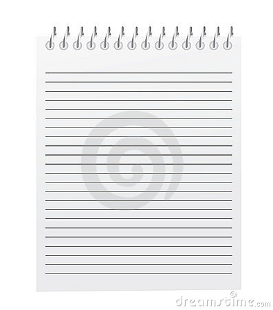 Vector spiral bound notepad
