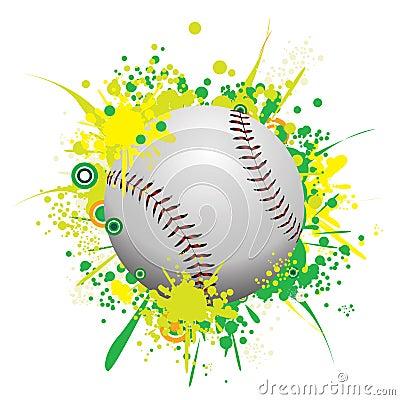 Vector Splatter Baseball