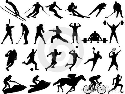 Vector sport silhouettes