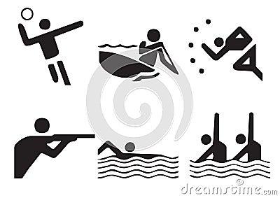 Vector sports symbols 1