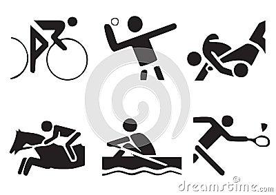 Vector sports symbols 2