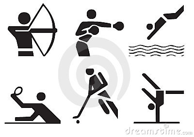 Vector sports symbols 3