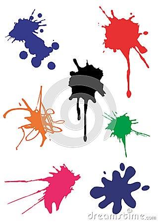 Free Vector Spots Splash Royalty Free Stock Photo - 4989175