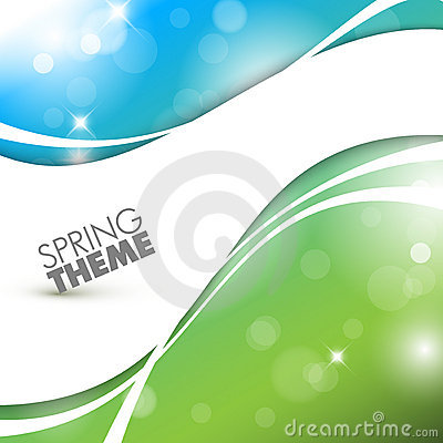 Free Vector Spring Abstract Background Royalty Free Stock Photography - 22740427