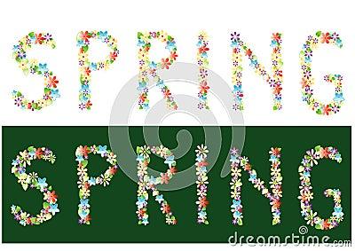 vector, Spring theme