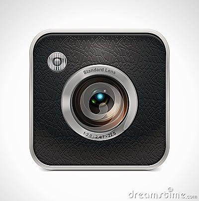 Free Vector Square Retro Camera Icon Stock Images - 19768444