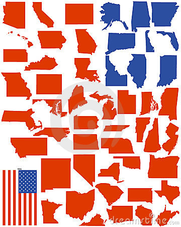 Free Vector States Of America Stock Photo - 12352540