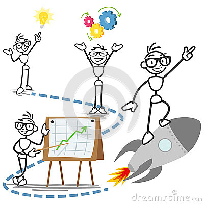 Free Vector Stick Man Concept Business Idea Success Royalty Free Stock Photo - 39528085