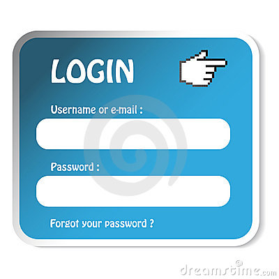 vector Sticker - login form