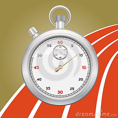 Vector stopwatch illustration