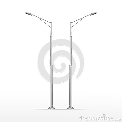 Free Vector Street Lamp Isolated On White Background Royalty Free Stock Photography - 43881517